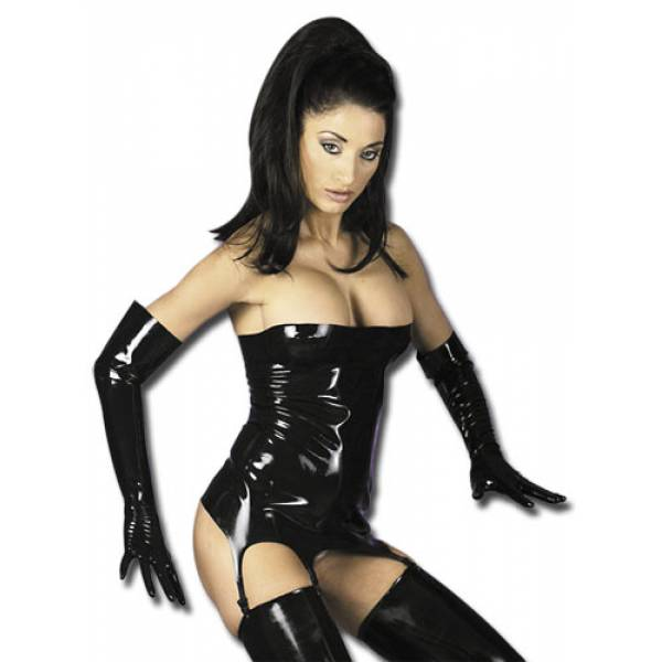 Latex strap korsetti