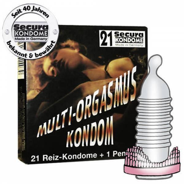 Secura Multiorgasmi kondomi penisrenkaalla 21kpl